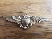 WW2 USN/USMC Aviator Pilots Wing Hall Marked H&H Imperial Pin Back 1942/43