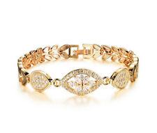 18K 750 Gold Armband Armreif Echt Schmuck Diamant Armkette Woman Bracelet 42€