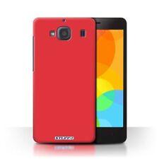 Fundas y carcasas de plástico de color principal rojo para teléfonos móviles y PDAs Xiaomi