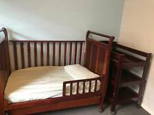 Baby cot and change table