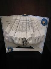 Folded Book Art Grandma Handmade Unique Christmas Gift Idea