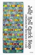 Jelly Roll Quick Step Table Runner, 3 sizes, DIY Quilt Pattern