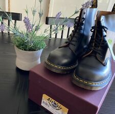 NEW - Dr Martens Vintage 1460 Black Quilon Leather Boots US 10 - MADE IN ENGLAND