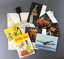 AIR INDIA VINTAGE INFLIGHT WALLET PACKET BOEING 707 AIRLINE ISSUE POSTCARD