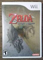 The Legend of Zelda: Twilight Princess (Nintendo Wii, 2006) Complete & Clean!