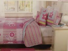 4 pc Kids Expressions Elana Butterfly Full Quilt, Shams & Deco Pillow Set Nip