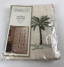 """CHAPEL HILL Design By CROSCILL OASIS PALM TREE FABRIC SHOWER CURTAIN 50x70"""" New"""