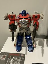 transformers titans return powermaster optimus prime w/instructions, card, box