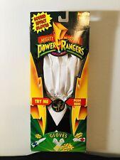 Rare Vintage Original Power Rangers Gloves! Zack-Black Ranger! 1994! w/box!