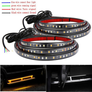 """Waterproof 60"""" Side kick Sequential Running Board Sequential Flowing Turn Signal"""