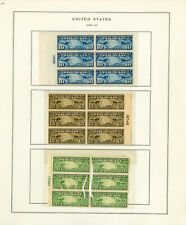US 1920s Key Plate Block Air Mail Stamp Collection