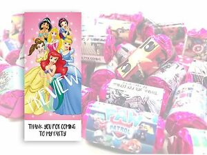 Disney Princess Mini Love Hearts Sweets Party Bag Fillers Kids Childrens #19