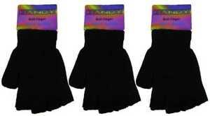 1 2 3 Unisex Children Kids Boys Girls Magic Stretch Fingerless Gloves One Size