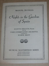 DE FALLA NIGHTS In The Gardens Of Spain For Piano & Orchestra Victor Masterpiece