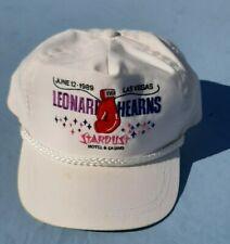 Rare Sugar Ray Leonard vs Hearns Vintage Hat Vegas 1989 Stardust Hotel & Casino