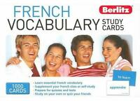 FRENCH VOCABULARY STUDY CARDS By Berlitz