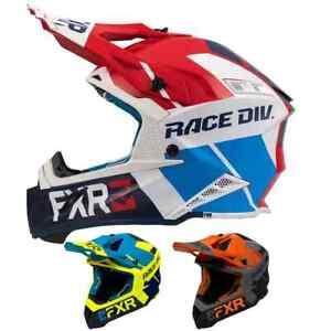 FXR Mens Racing Motocross Bike Helmet - F20 Helium Off Road Dirt Race Division