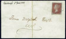 1555 CANONGATE SCOTS LOCAL CANCELLATION  1d STAR FOLDED LETTER 1856 UK GB