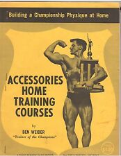 Ben Weider's Accessories Home Training Courses Muscle Builder Booklet