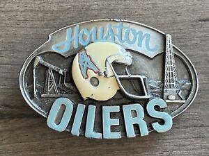 Vintage Houston Oilers Belt Buckle 1987 Siskiyou Limited Edition NOS