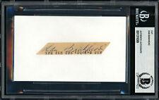 Dan Bankhead Autographed Signed 1x3.5 Cut Signature Dodgers Beckett 11319309