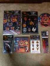 HUGE BUNDLE Five Nights At Freddy's Birthday Party Supplies - decor, invites etc