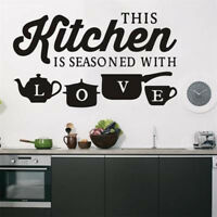 Removable KITCHEN Coffee Cup Wall Sticker Vinyl Decal Art Mural Bar Decoration