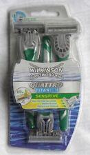 Wilkinson Sword Men's Quattro Titanium Sensitive Disposable Razor 3-pack