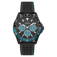 Guess Men's Odyssey U1108G5 Black Silicone Quartz Fashion Watch