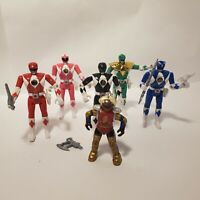 Lot of 1993 Mighty Morphin Power Rangers MMPR Flip Heads plus Alpha 5 Loose