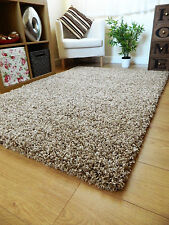 Small X Large Size Thick Plain Soft Shaggy Rug Non Shed 5cm Pile Modern Rugs Mocha Mix 60x120cm (2x4')