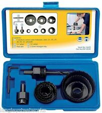 DRAPER HOLESAW KIT HOLE CUTTER SET PLUMBER KITCHEN FITTER FOR CUTTING WOOD 16645