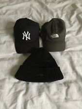 Mens 3 Hat Bundle Caps Beanie NY Yankees New Era North Face