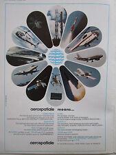 1/1974 PUB AEROSPATIALE AIRBUS CONCORDE RALLYE PUMA LAMA GAZELLE CORVETTE AD
