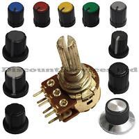 10K ohm Dual Stereo Log Logarithmic Lin Linear Pot Potentiometer And Knob
