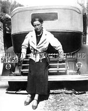 ANTIQUE 8X10 REPRINT PHOTO GANGSTER BONNIE PARKER OF BONNIE AND CLYDE
