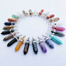 Natural stone crystal pillar Pendants & necklaces for charms Jewelry mixed 24pcs