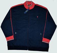 New XXL 2XL POLO RALPH LAUREN Men's track Jacket Navy blue red sports suit 2X