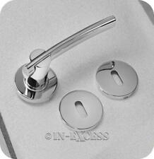 Hafele Hardware Bathroom Standard Handle & Rose Door Set - Polished Chrome (379)