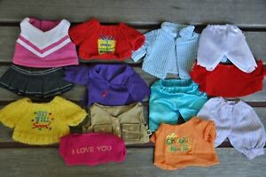 Lot of Small Size Bear Clothes T-shirts Tops Pants - 13 Pieces