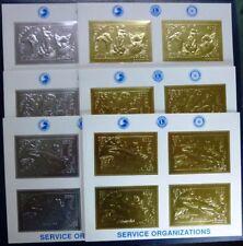 Mongolei Mongolia 1993 Tiere Gold Silber 2471-76 Specimen Kleinbögen MNH / 17