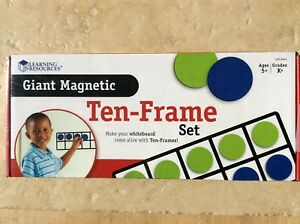 Giant Magnetic Ten-Frame Set   Demonstrate base-ten number concepts on the white