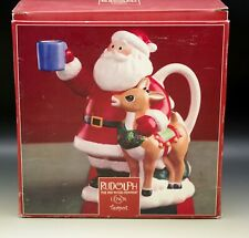 Lenox Holiday Santa And Rudolph Teapot Red-Nosed Reindeer New