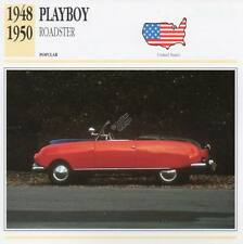 1948-1950 PLAYBOY ROADSTER Classic Car Photograph / Information Maxi Card