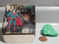 Vintage 1977 Superman Kryptonite Rock in Original Box DC Comics Glow in Dark