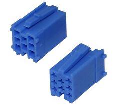 2 x Conectores vacia azul mini ISO 8PIN para autoradio