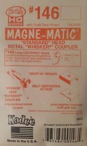 "Kadee HO Scale #146 ""Whisker"" (Long 25/64"") Metal Magne-matic Coupler ~ New"