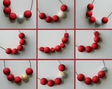 Handmade Red Wood/Wooden Bead/Beaded Necklace *13 Designs*