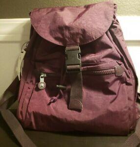 Kipling Keeper Backpack Dark Plum Nylon $99 NWT