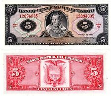 Equateur ECUADOR Billet 5 Sucres 1983  P108b HY  NEUF UNC